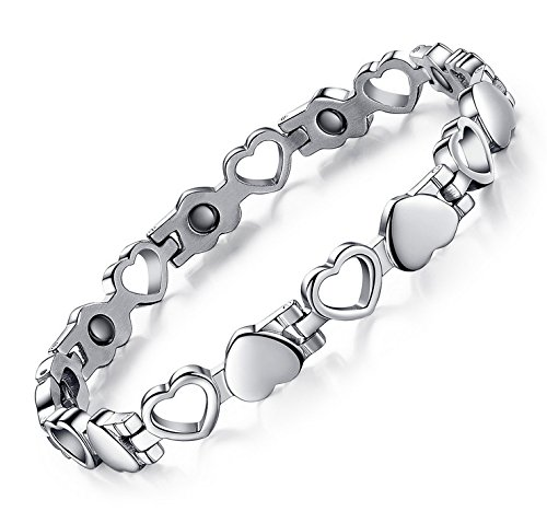 Magnetic Therapy Bracelet Titanium Alleviate Pain/Arthritis / RSI/Carpal...