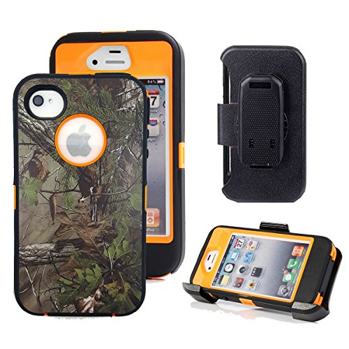 Shockproof Armor Case iPhone 4/4s (Orange) - 7