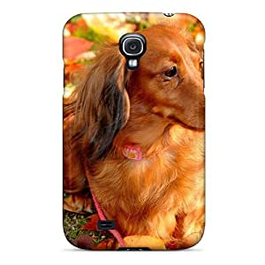 DGENDS Pretty Animals Dogs Dachshund Dachshund For A Walk Case Cover Galaxy S4 Series High Quality Case