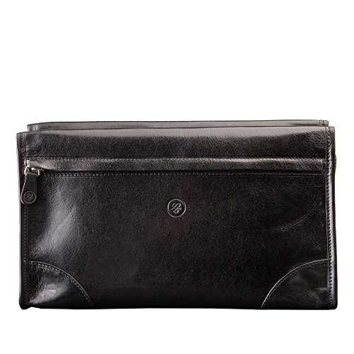 Maxwell Scott Personalized Maxwell Scott Personalized Luxury Black Leather Dopp Kit (The Tanta) - One Size by Maxwell Scott Bags