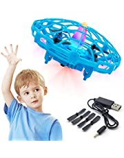 $21 » Hand Operated Drone for Kids Adults Mini Drone for Kids Flying Ball Drone with Upgraded Interactive Sensors 360 Degree Rotating Indoor Drone for Kids UFO Toy Drone for Boys and Girls