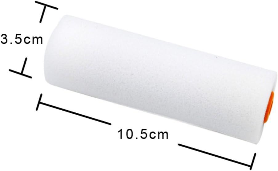 10 Unids//Set Mini Blanco Pintura Espuma Durable Rodillo Mangas Pintura Decoraci/ón Esponja Rodillos Juegos De Arte Suministros De Pintura WT001 白色 圆头