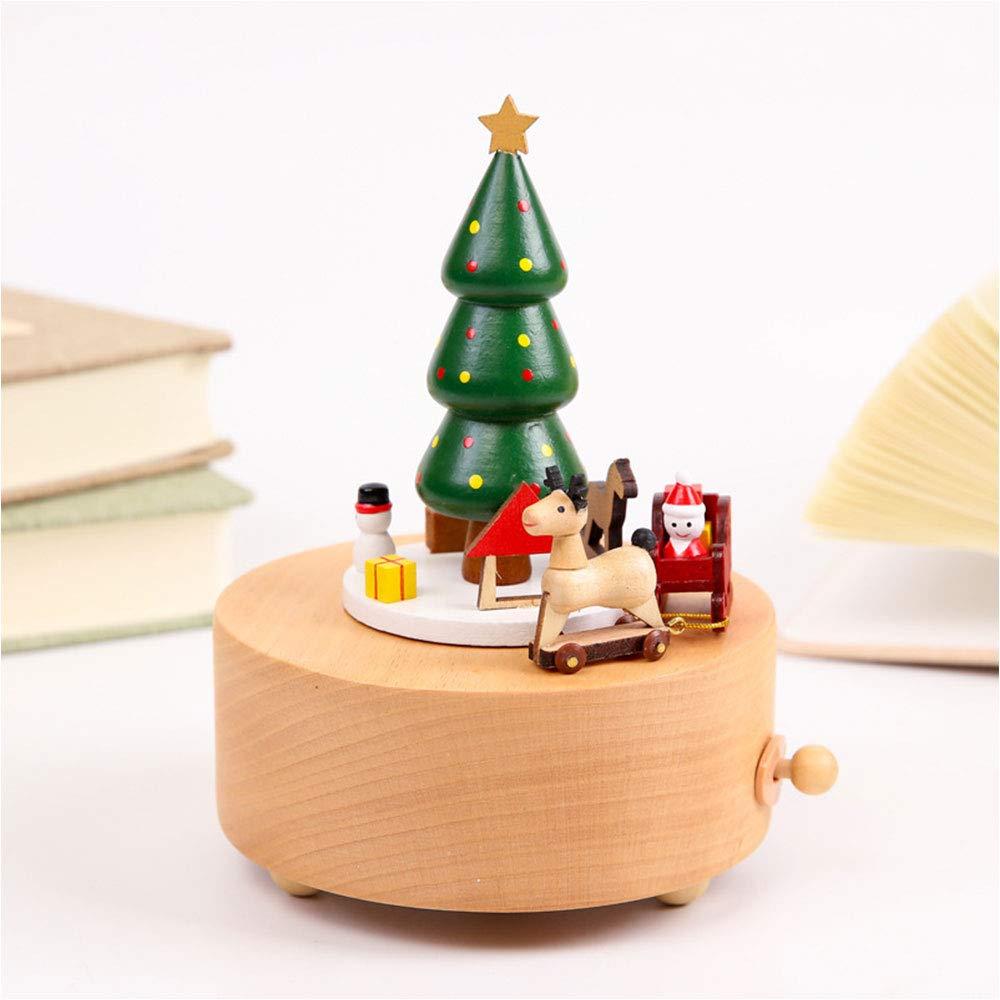 ILYO DIY Navidad Madera música Caja Creativa árbol de Navidad Regalo artesanías