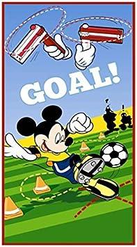 Mickey Mouse de balón de fútbol 100% algodón toalla de playa para ...