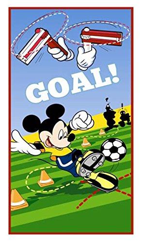 Mickey Mouse de balón de fútbol 100% algodón toalla de playa para portería de!: Amazon.es: Hogar