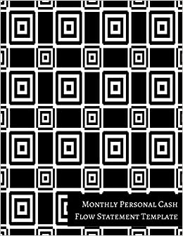 amazon com monthly personal cash flow statement template