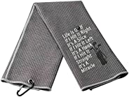 XYANFA Funny Golf Quote Golf Towel Golfing Golfer Gift Golf Lover Gifts Golf Gifts for Women Men Life is Golf