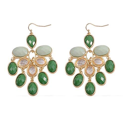 Green Chroma Glass Goldtone Chandelier - Glasses Chroma E