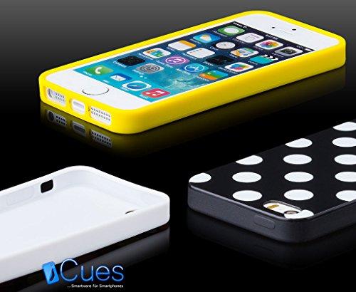 Apple iPhone SE / 5S / 5 | iCues lunares TPU negro / púrpura | Señoras de las mujeres de las muchachas de gel de silicona adorno del modelo de piel protectora de protección [protector de pantalla, inc Negro / Lila