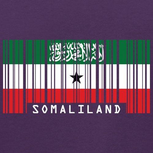 Somaliland / Republik Somaliland Barcode Flagge - Herren T-Shirt - Lila - L