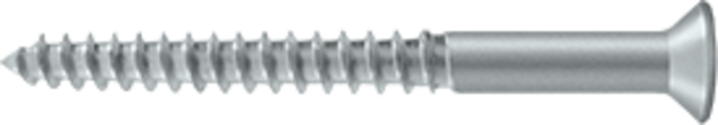 Deltana SCWB1225 2-1/2'' #12 Solid Brass Wood Screw, Brushed Chrome