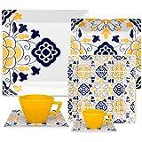 1 Aparelho de Jantar Chá e Cafezinho 42 Peças Oxford Porcelanas Quartier Sevilha Multicor