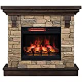 ClassicFlame 23WM8909-I612 Eugene Wall Mantel, Aged Coffee (Electric Fireplace Sold Separately)