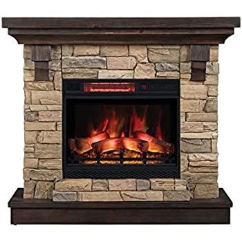Mcleland design fireplace mantel with electric insert