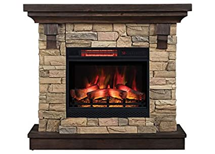 amazon com eugene electric fireplace mantel package in aged coffee rh amazon com small electric fireplace mantel packages small electric fireplace mantel packages