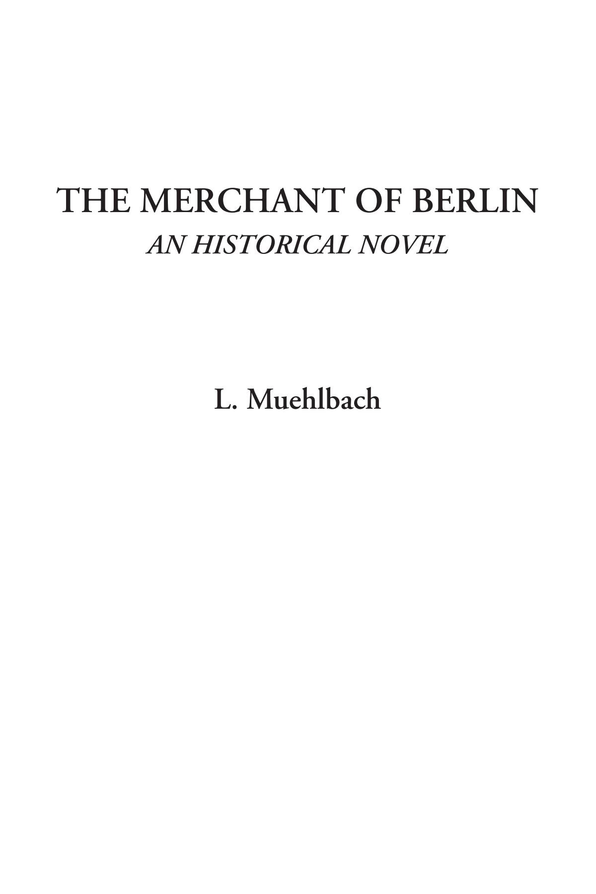 Download The Merchant of Berlin (An Historical Novel) pdf