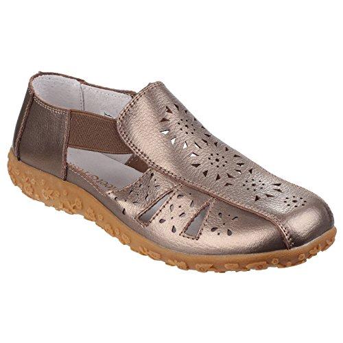 Sandalias cerradas modelo Grigio para mujer Bronce