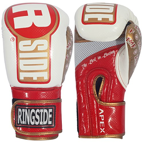Ringside Apex Bag Gloves, White/Black, Small/Medium