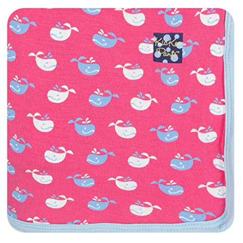 KicKee Pants Print Swaddling Blanket, Winter Rose Tiny (Rose Knit Pants)