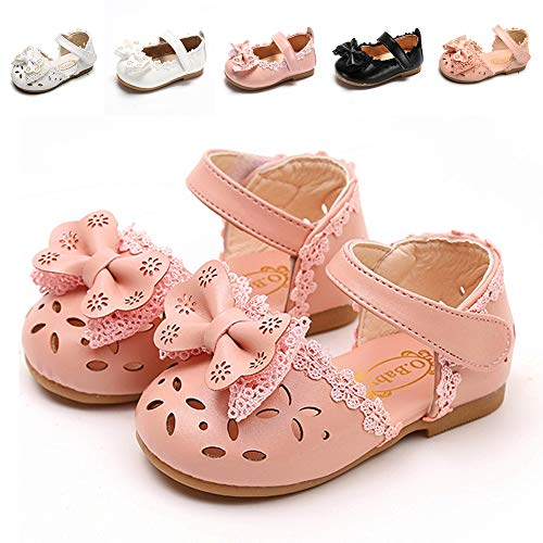- Sawimlgy US Girls Leather Sandals Mary Jane Flat Shoes Laces Bow Soft Round Toe Princess Dress (Toddler/Little Kid)