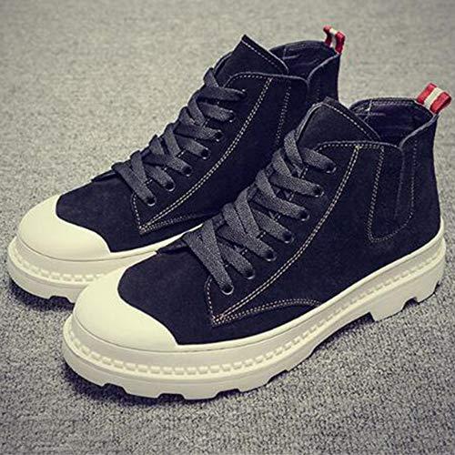 Classici Doc Desert Marten Boots per Lamper Chelsea in Stivali Pelle Boots per Stivali Studenti Top Black High Stivali Adulti Uomo Stivaletti rPTrwaqnC