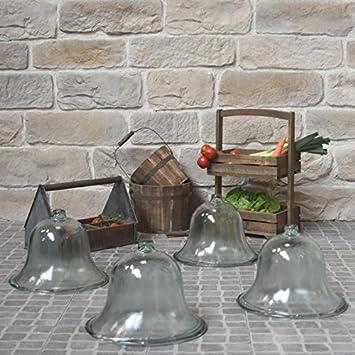 Chemin De Campagne 4 Grandes Cloches De Jardin Salade Melon Verre O 38 Cm