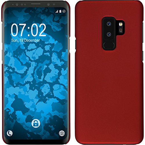 Hardcase for Samsung Galaxy S9 Plus - Rubberized red - Cover PhoneNatic Case