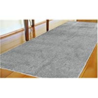 Nedia Home 27265 Comfysoft Solid Textured Runner Accent Rug, 20 in. x 54 in, Light Gray