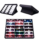 Lavenz 18PCS Eyewear Sunglass Organizer Box Jewelry Watches Display Storage Case For Women Men