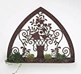 Ornate Floral Urn Wall Mounted Planter | Outdoor Garden Metal Flowers