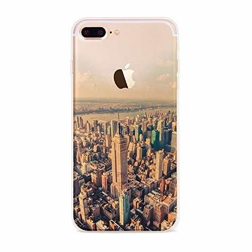 City Cover - iPhone 6 Case,SAWAMART Beautiful Scenery Soft TPU bumper Clear with PC Back shockproof Ultra Thin Cover Case for iPhone 6/6s(City 1)