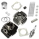 Almencla Piston Rings Cylinder Gasket Top Kit Set for Suzuki Lt-A 50 LT 50 2003-2005