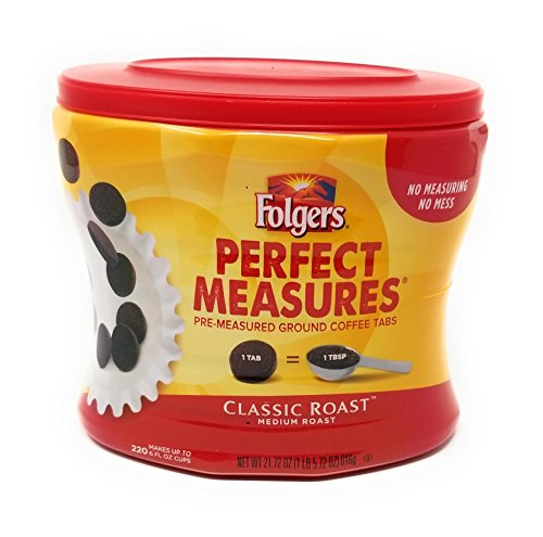 Folgers Perfect Measures Classic Roast Coffee, Pre-Measured Ground Coffee ()