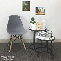 3-Piece Round Coffee Table Set (black)