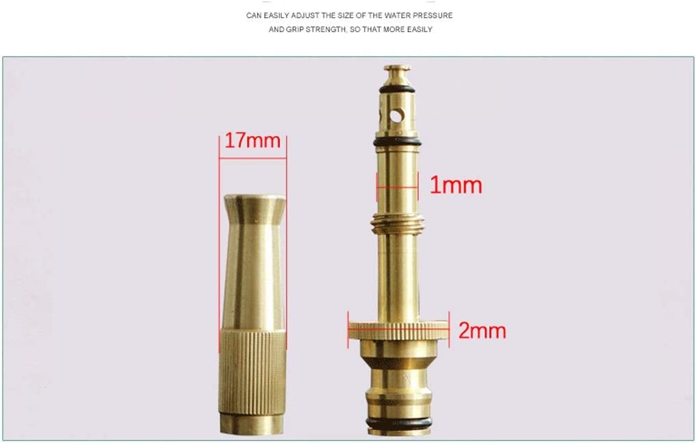 AJZXHE Garden Hoses Outdoor garden hose spray nozzles, adjustable quick connect the spray nozzle with solid brass Brass garden hose reel (Color : A) A