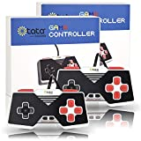 Classic Game Controller, kiwitatá Super USB SNES Gamepad for PC Mac Raspberry Pi Retropie Emulator Plug N Play(Pack of 2)