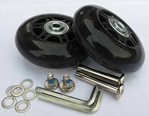 E&L 64 X 18(mm), 1 Set of Luggage Suitcase Replacement Wheels with ABEC 608zz Bearings,Packaged with Our own Designed Bag @ Eric & Leon Logo (64 X 18(mm))