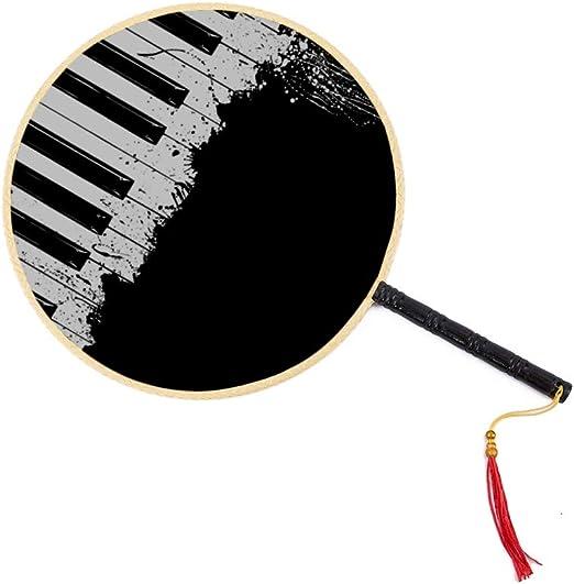Música vintage Piano Blanco y negro Ventilador antiguo chino ...