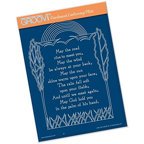 Groovi Plate - May the Road Rise A5 Template, GRO40522 by Groovi