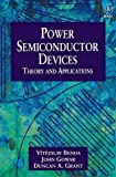 img - for Power Semiconductor Devices: Theory and Applications by V tezslav Benda (1999-01-26) book / textbook / text book