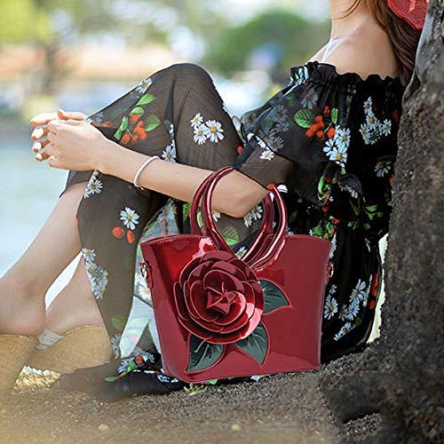 E Bolso De Invierno Retro 2018 Mujer Rojo Bandolera Otoño Messenger C46qRx