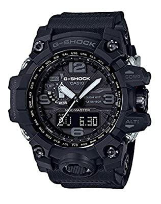 Men's Casio G-Shock Triple Sensor Mudmaster Black Watch GWG1000-1A1 by G-Shock