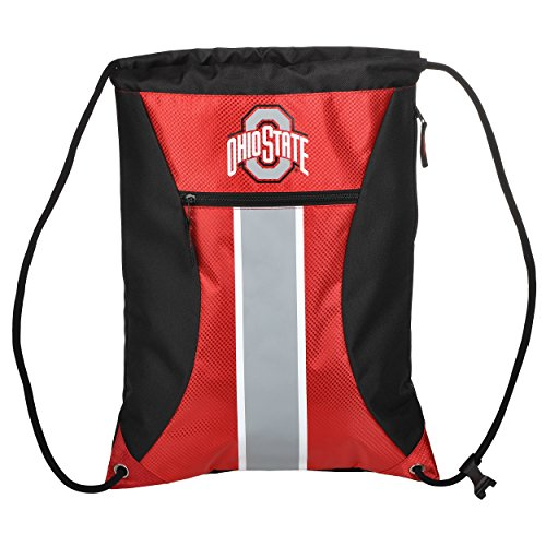 FOCO Ohio State Big Stripe Zipper Drawstring Backpack (Pack String State)