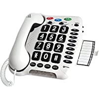 Amplified Multifunction Hearing-Aid Compatible Telephone with Large Buttons