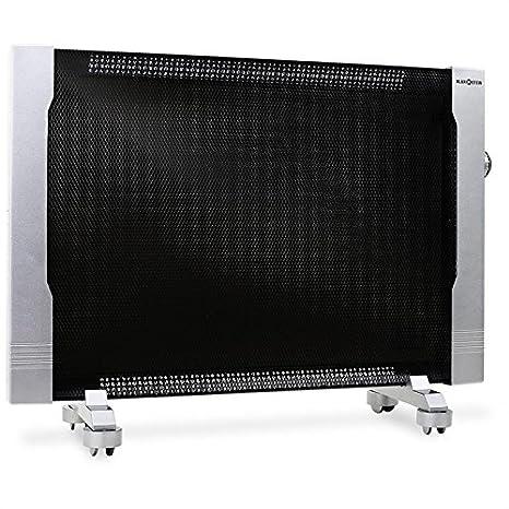 Klarstein HT002MC Radiador de ondas calientes de bajo consumo (2500W, transportable con ruedas,