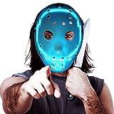 ZLIXING Scary Halloween Mask, LED Light up Purge Mask Cosplay Costume for Men Women Adults Kids, Horror Jason Mask
