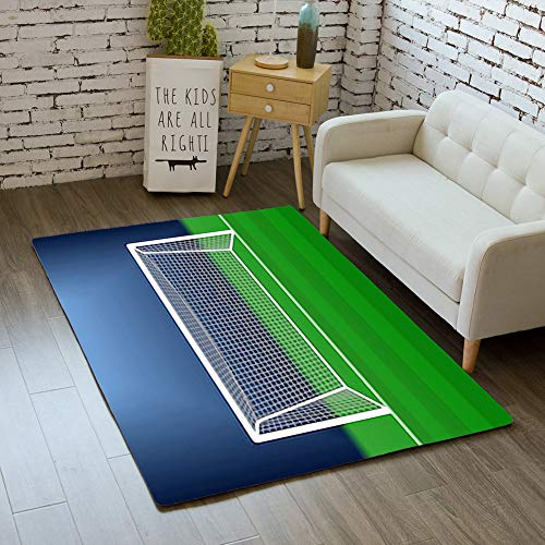 iBathRugs Door Mat Indoor Area Rugs Living Room Carpets Home Decor Rug Bedroom Floor Mats,Soccer Goal on Stadium Football ()