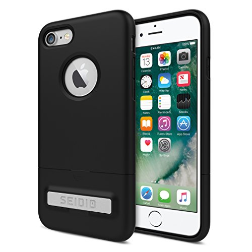 Seidio Surface Phone Case for the Apple iPhone 8 (Black/Black) ()