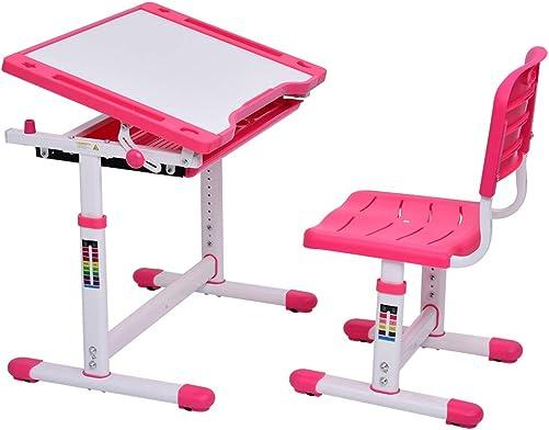 Bellanny Kids Desk and Chair Set Height Adjustable Study Desk Workstation