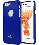 iPhone 6 Plus Case, iPhone 6s Plus Case, [Thin Slim] GOOSPERY [Flexible] Color Pearl Jelly Rubber TPU Case [Lightweight] Bumper Cover (Navy) IP6P-JEL-NVY